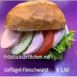 Broetchen-Geflügelwurst