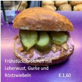 Broetchen-Leberwurst
